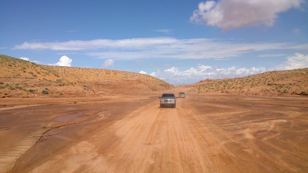Ảnh lưu trữ miễn phí về cars trong desert, dres drive