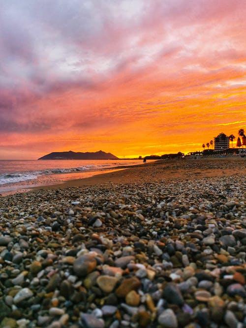Free stock photo of beach sunset, beautiful sunset, lungomare