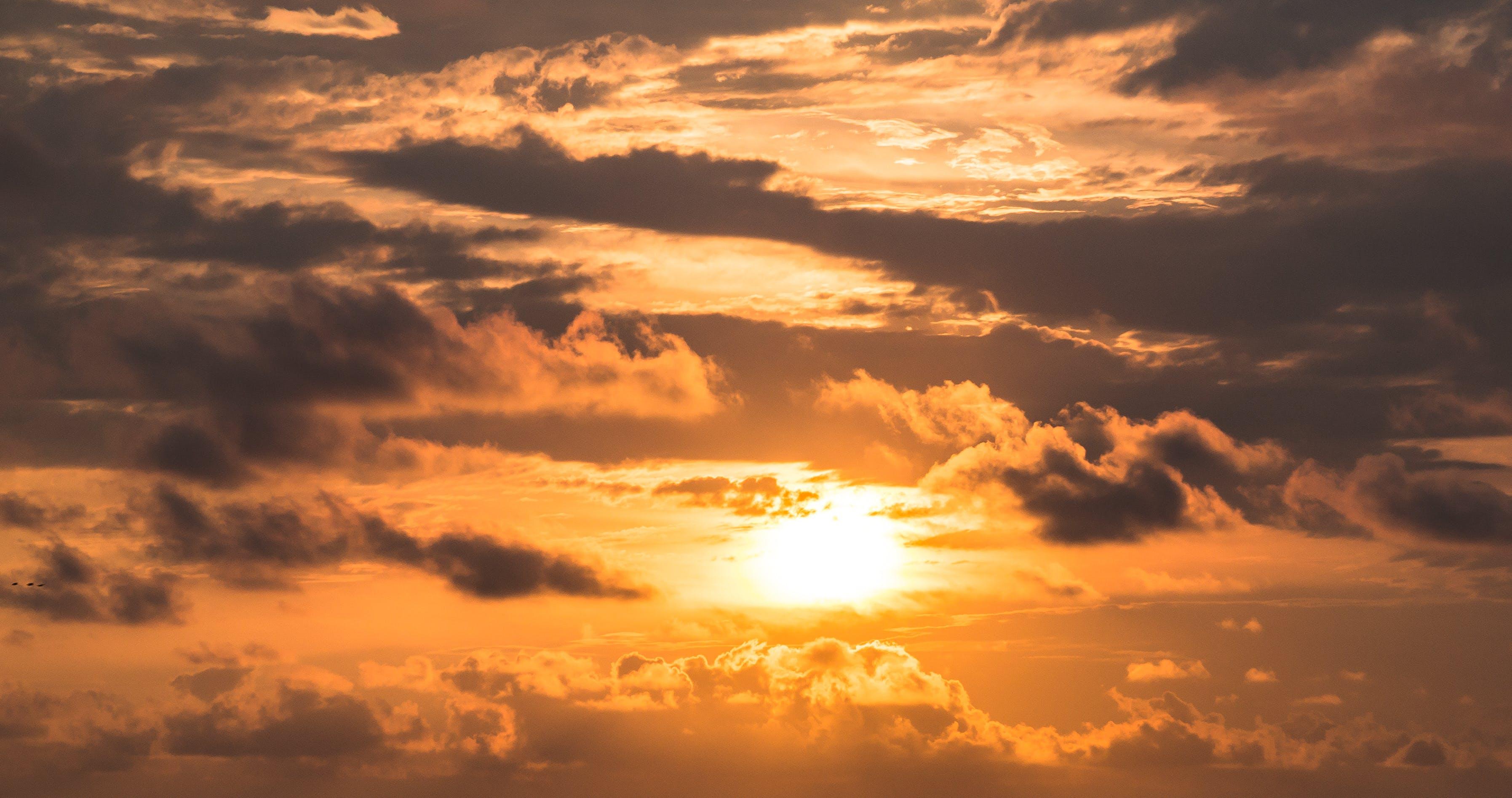 Kostenloses Stock Foto zu bewölkt, dämmerung, dunkle wolken, friedvoll