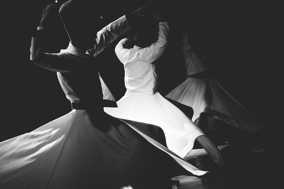 Three Person Dancing Dervish Dance