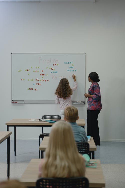 People Standing in Front of Whiteboard