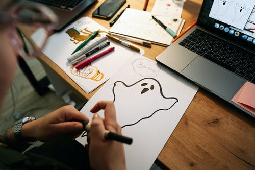 Making Halloween Drawings