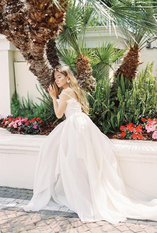 Foto d'estoc gratuïta de a l'aire lliure, adult, amor, boda