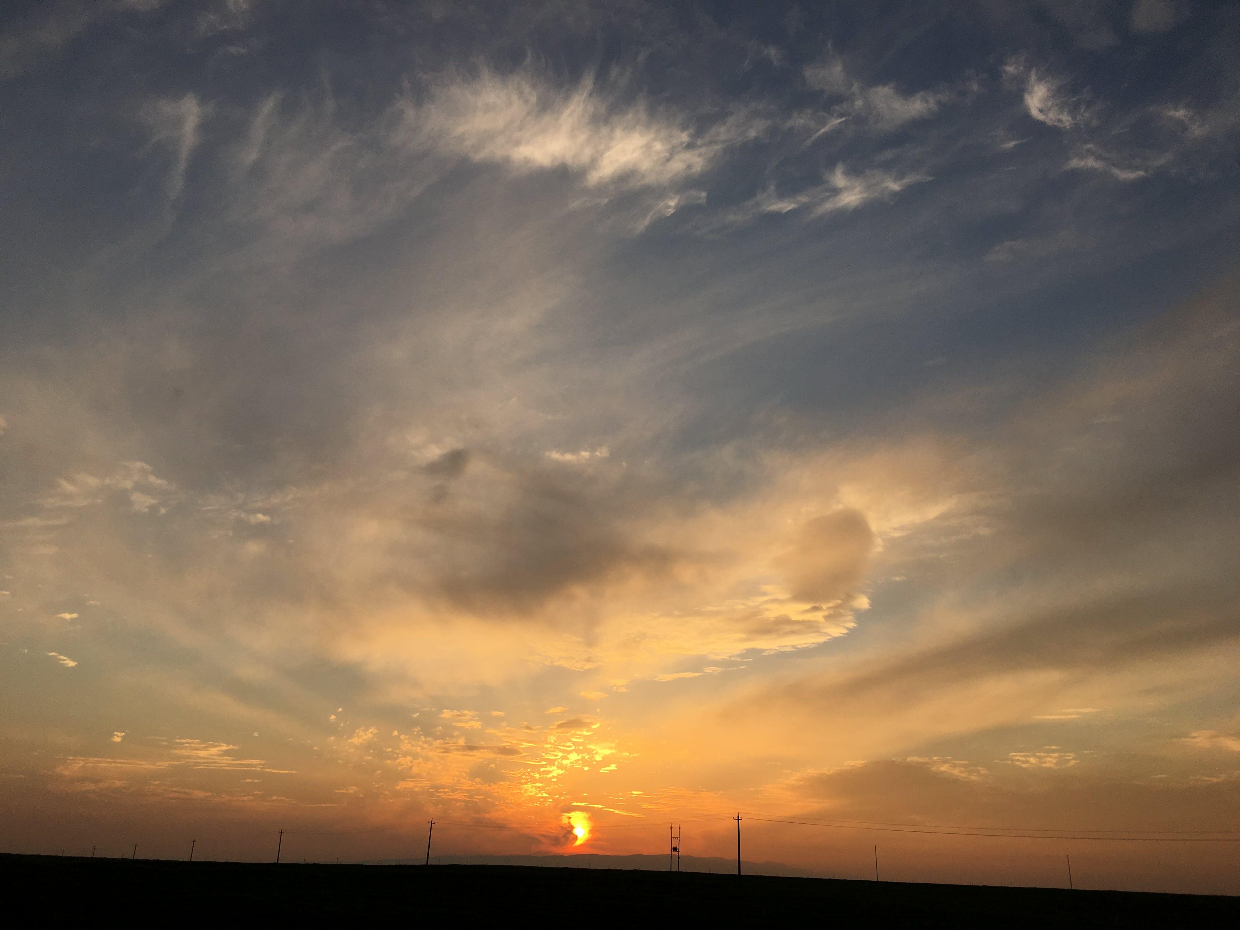 Základová fotografie zdarma na téma mraky, obloha, svítání, západ slunce