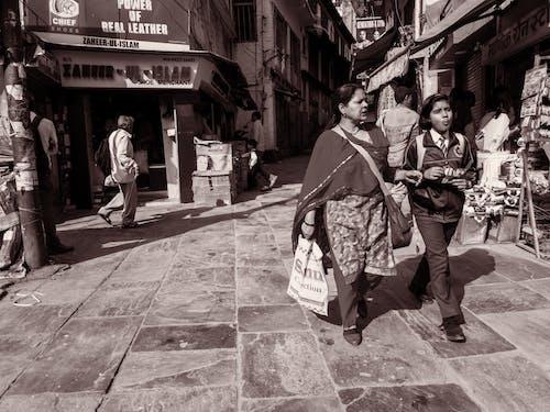 Foto stok gratis almora, bazar, hitam dan putih, India