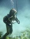 person, underwater, diver