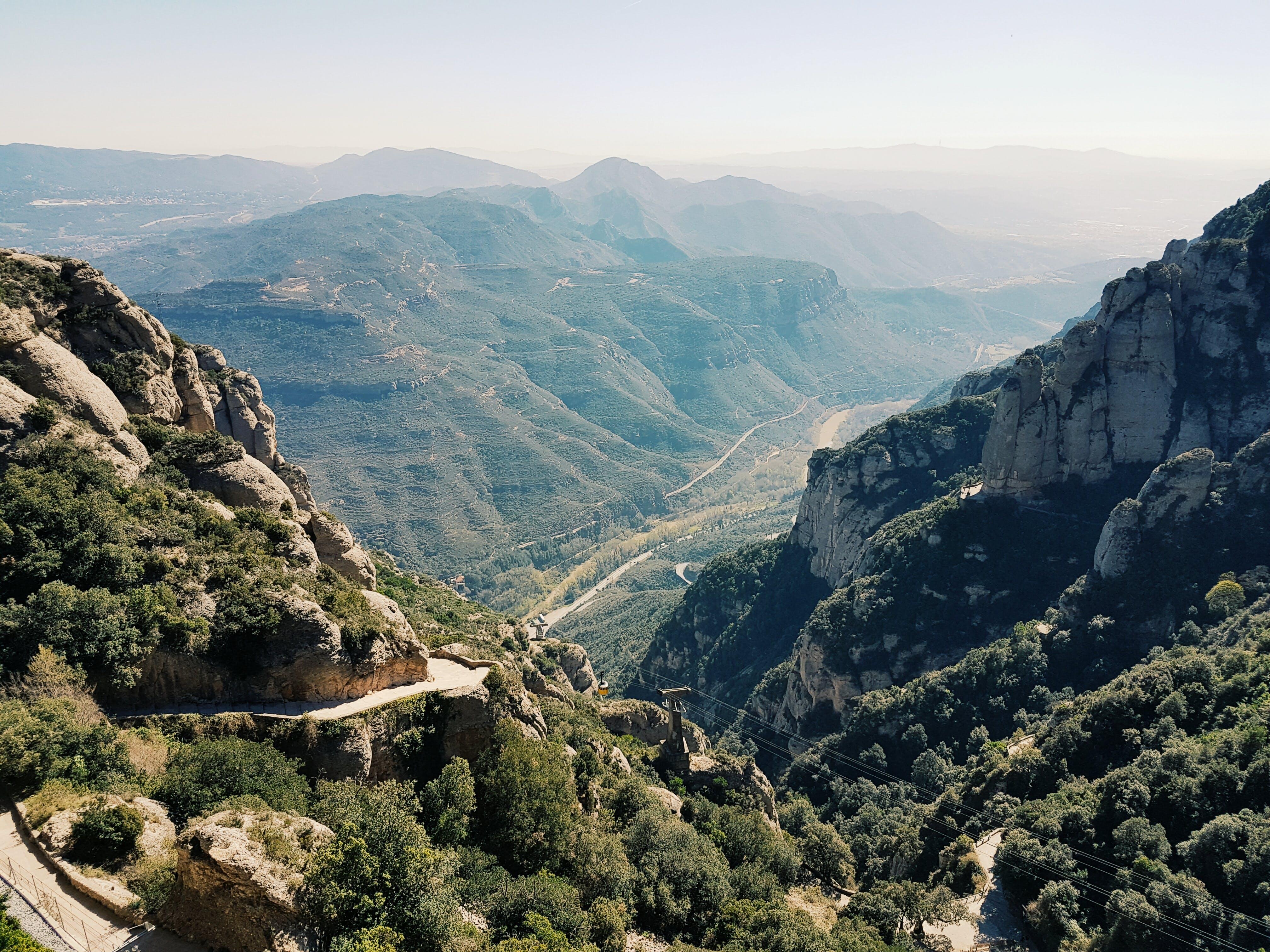 Gray Rock Mountain Surrounding Valley