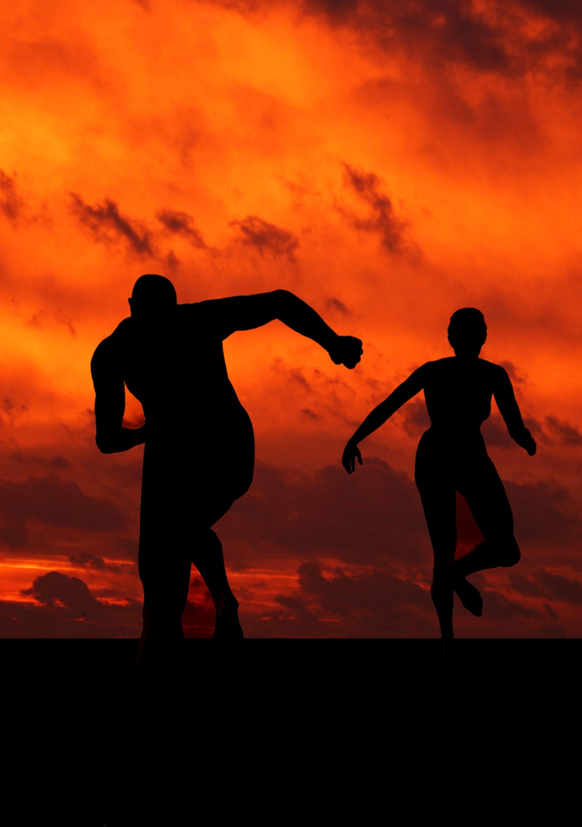 atletler, dişi, erkek, grafik içeren Ücretsiz stok fotoğraf