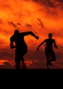 people, silhouette, sport