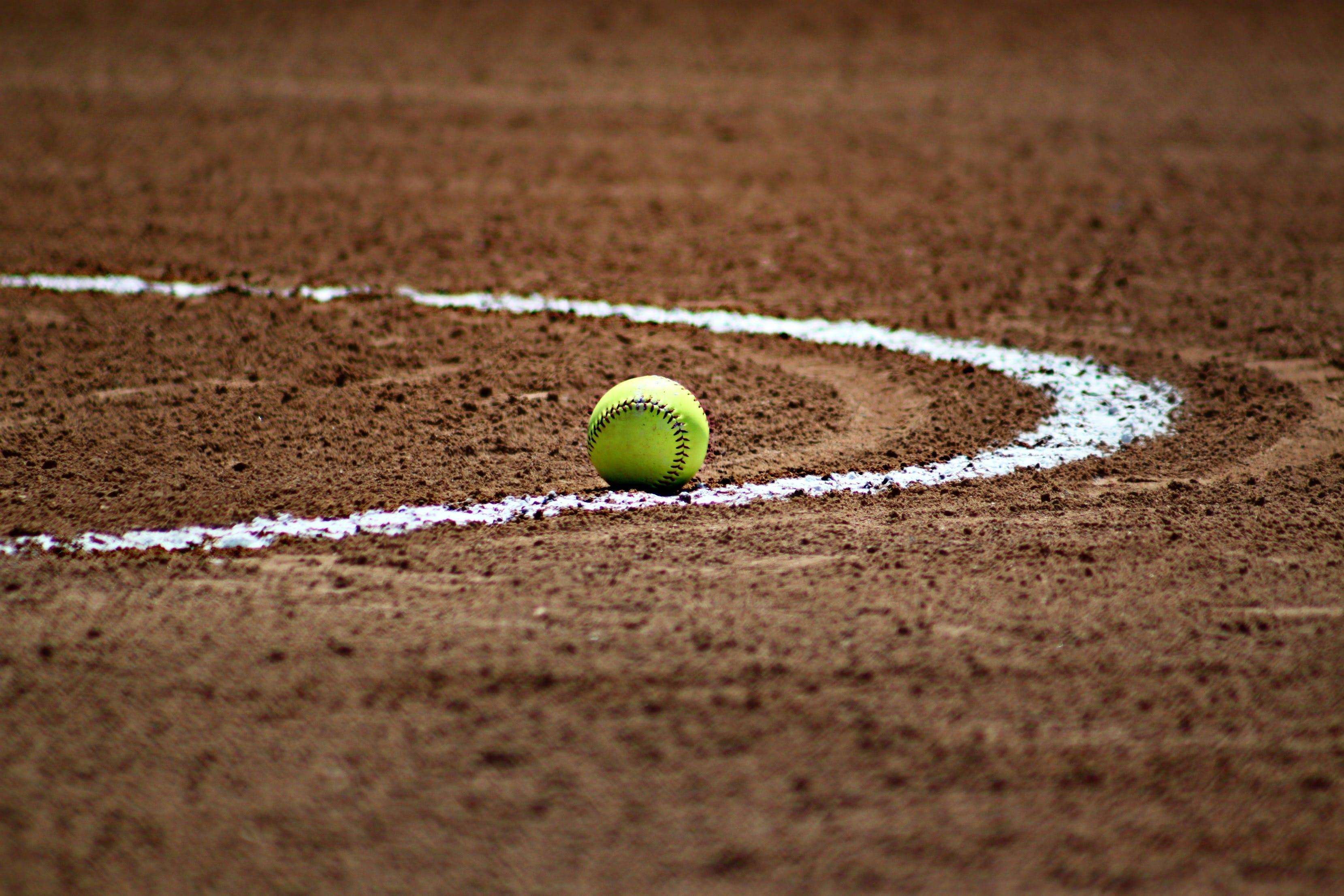 Základová fotografie zdarma na téma baseball, čára, hnědá, hra