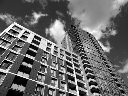 Grayscale Photography of High Rise Building
