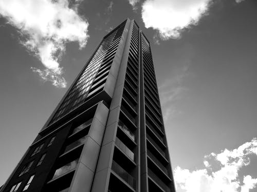 Ingyenes stockfotó ablakok, acél, alacsony szögű felvétel, építészet témában