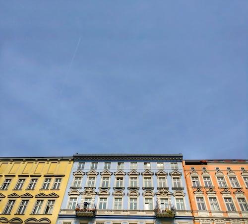 ガラス窓, モダン, ローアングルショット, 外観の無料の写真素材
