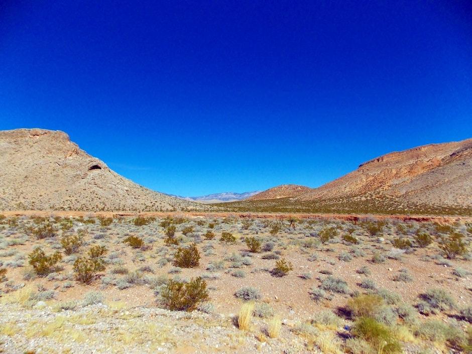 barren, blue skies, clear sky