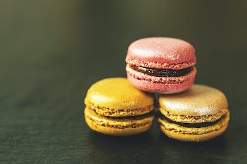 Three French Macarons