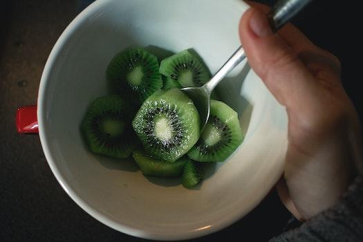 Free stock photo of snack, fruit, kiwi, vitamins