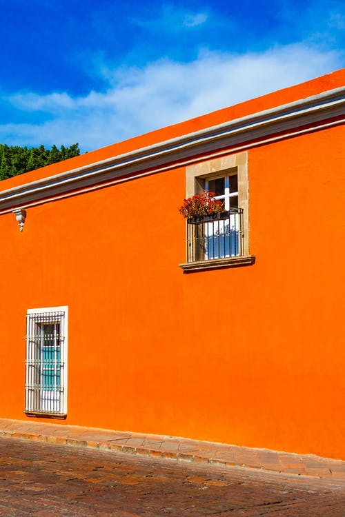 Bright residential house with windows