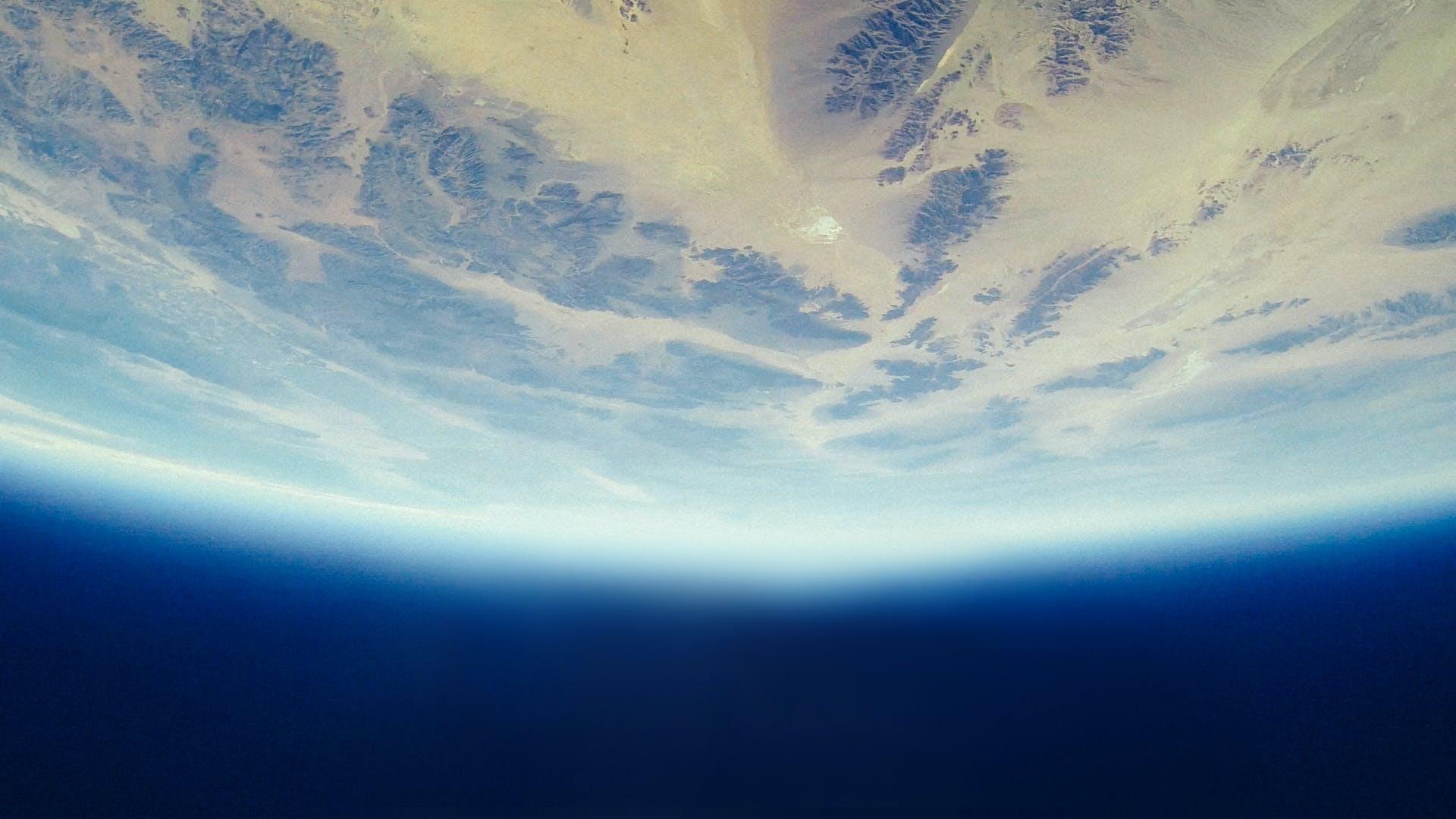 atmosphäre, erde, kosmos