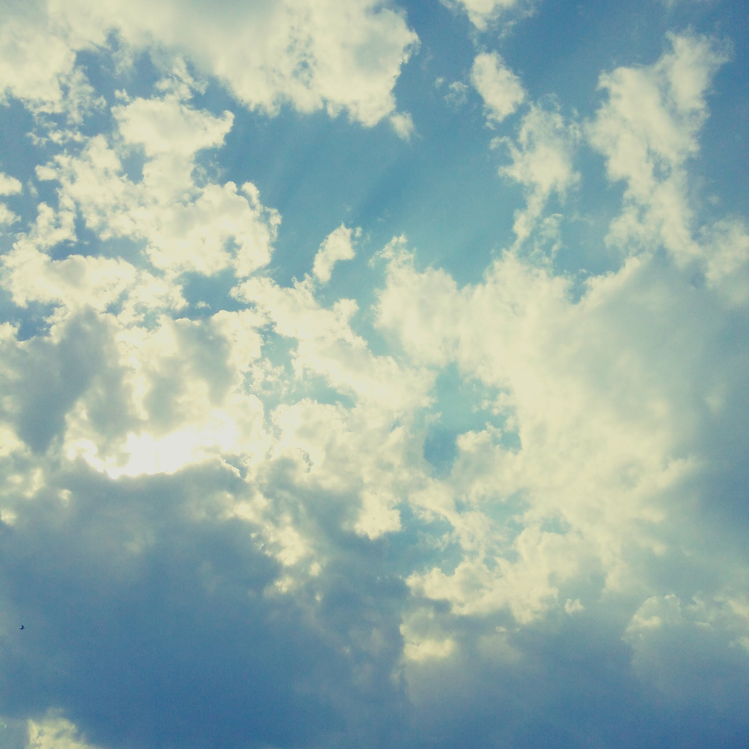 Free stock photo of blue sky, clouds, sun