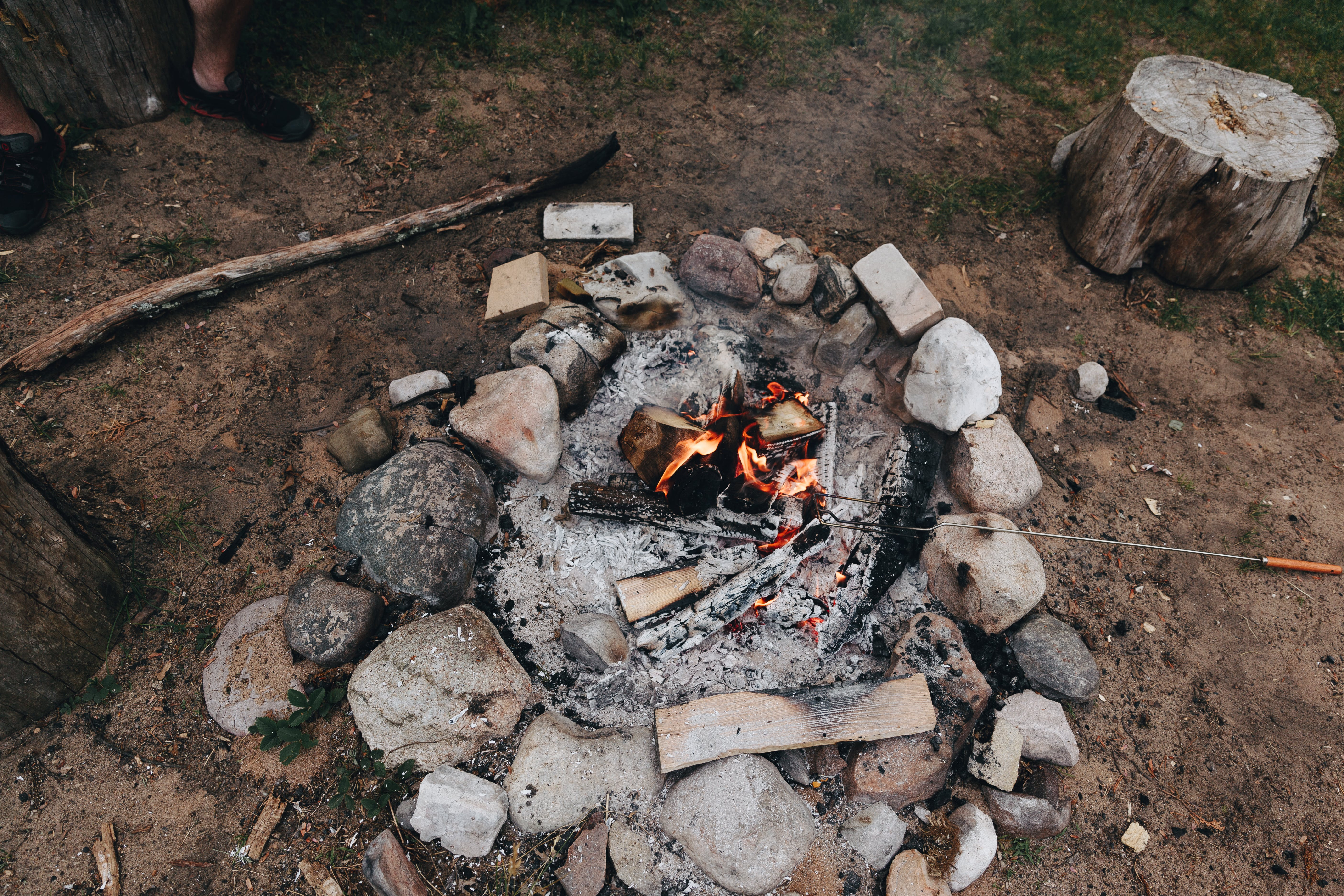 Free stock photo of camp, camping, fire, firepit