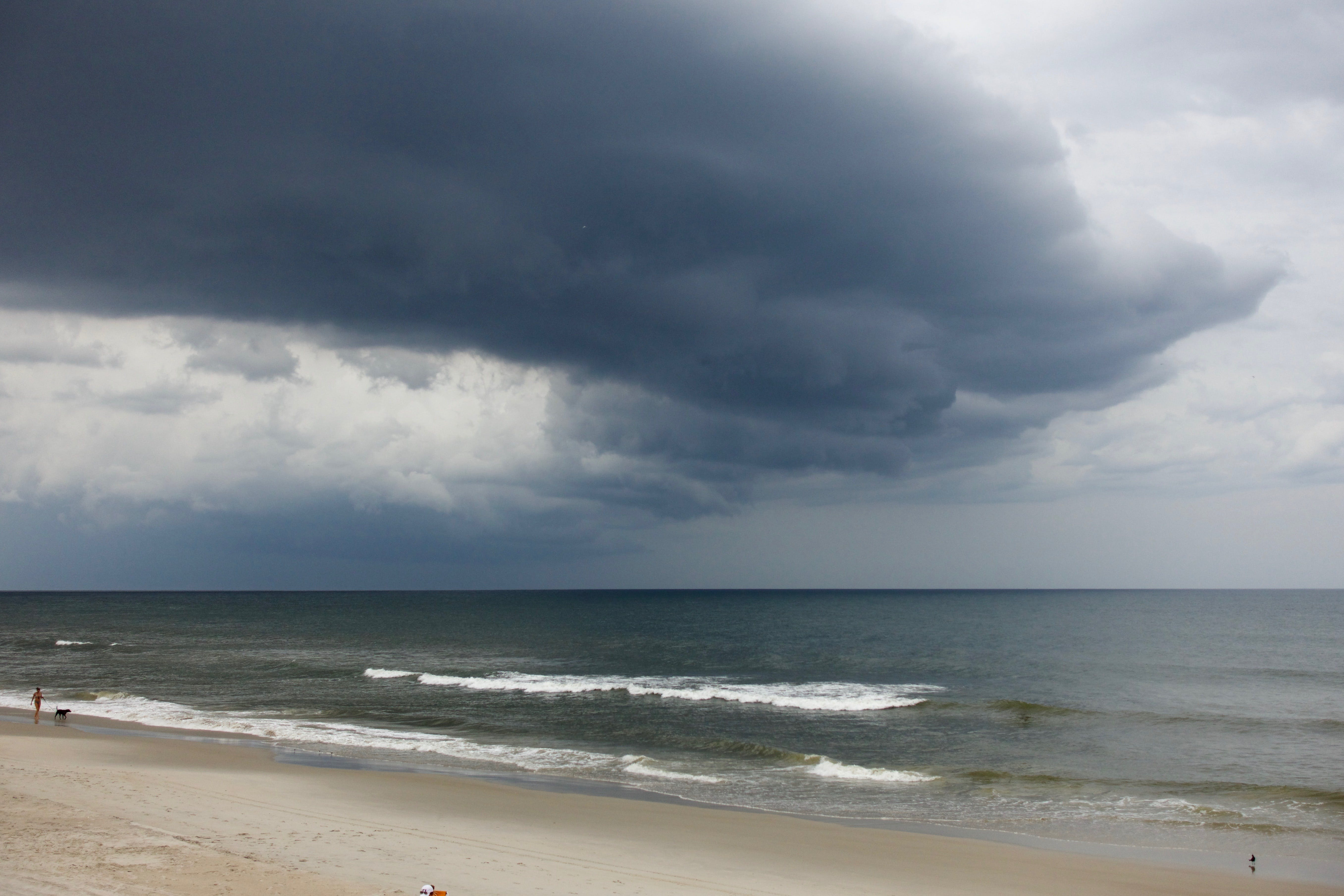 Free stock photo of beach, clouds, ocean, storm