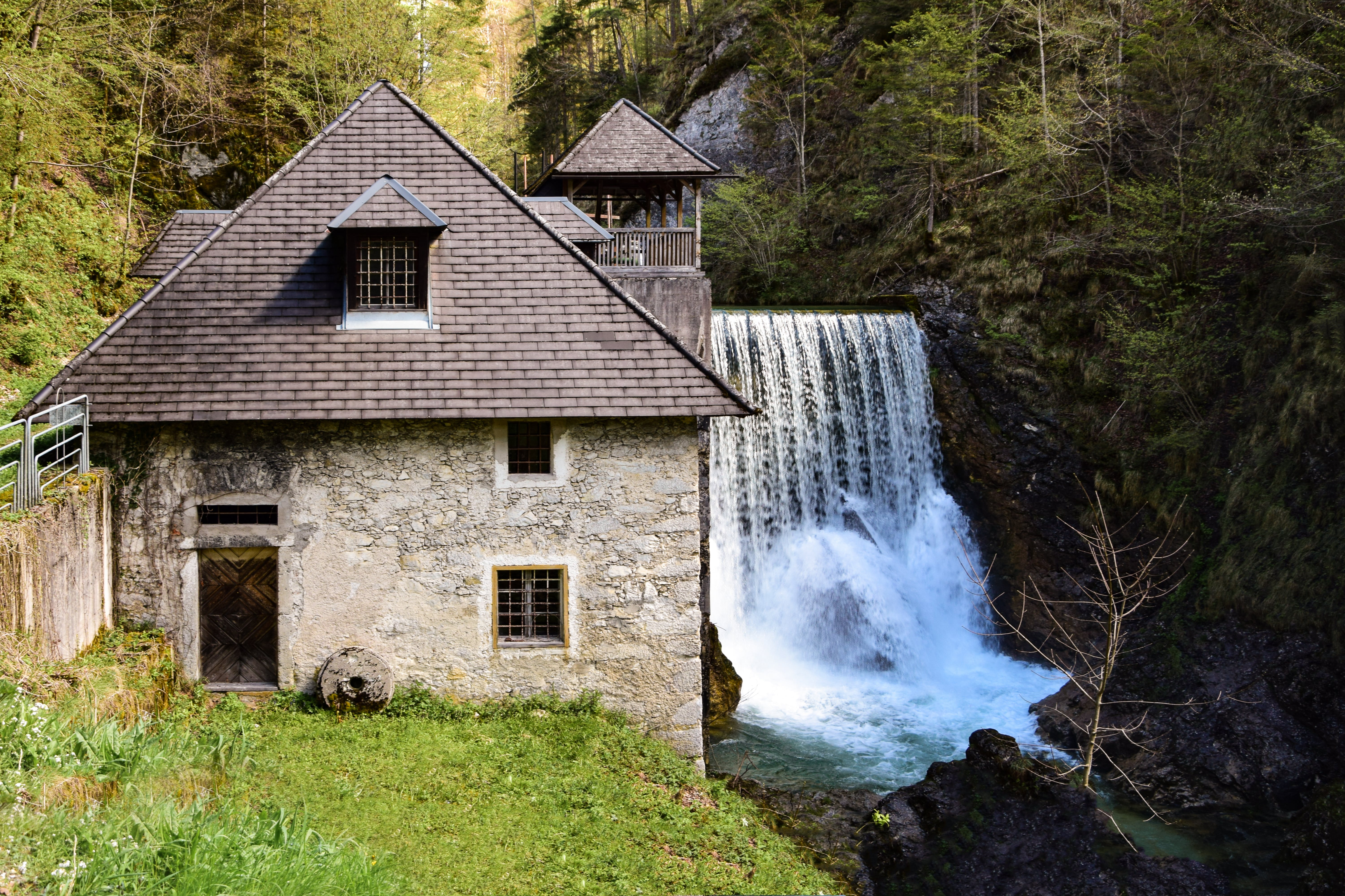 Gray House and Water Dam