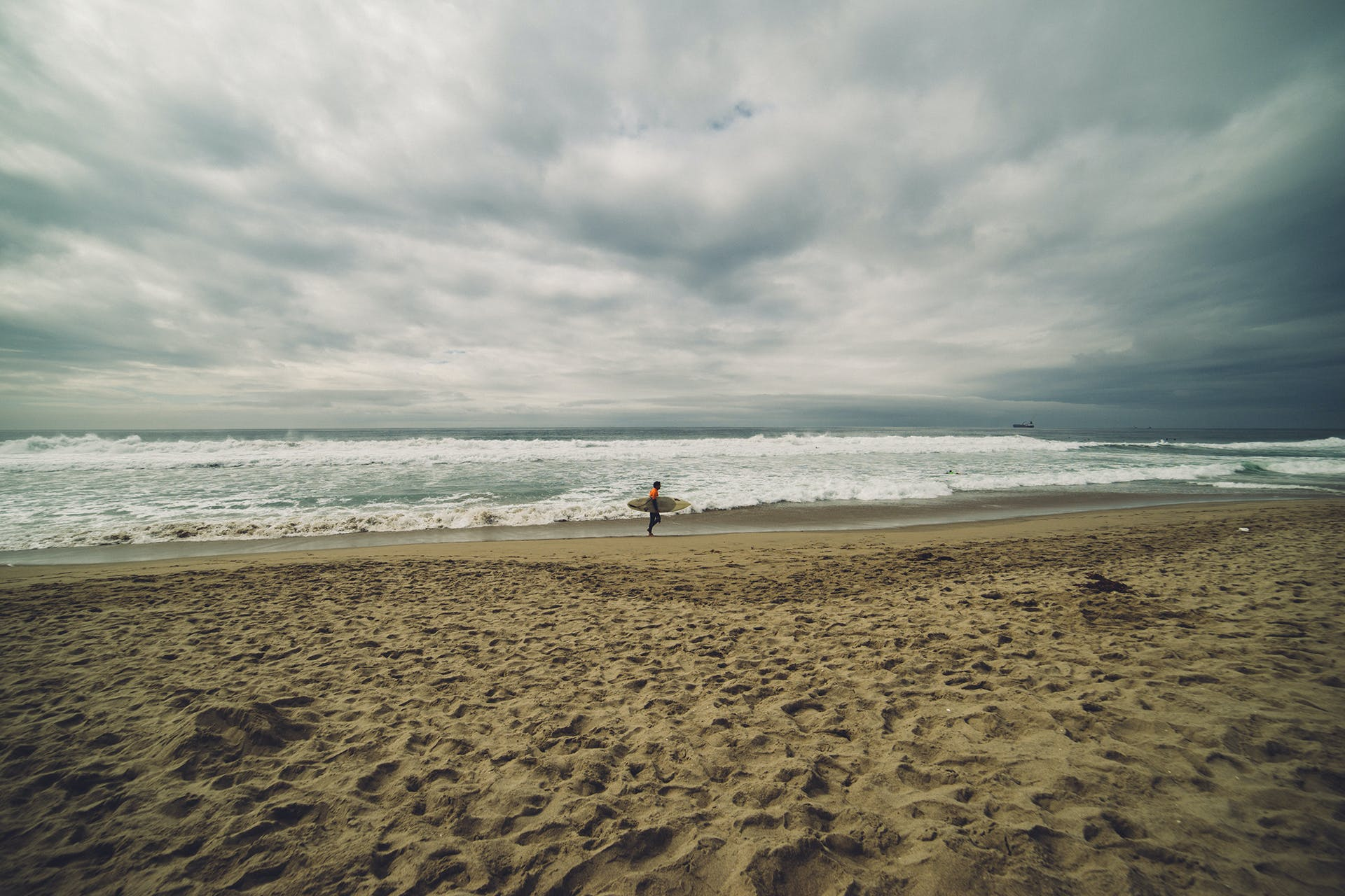 Free stock photo of sea, beach, sand, surfer