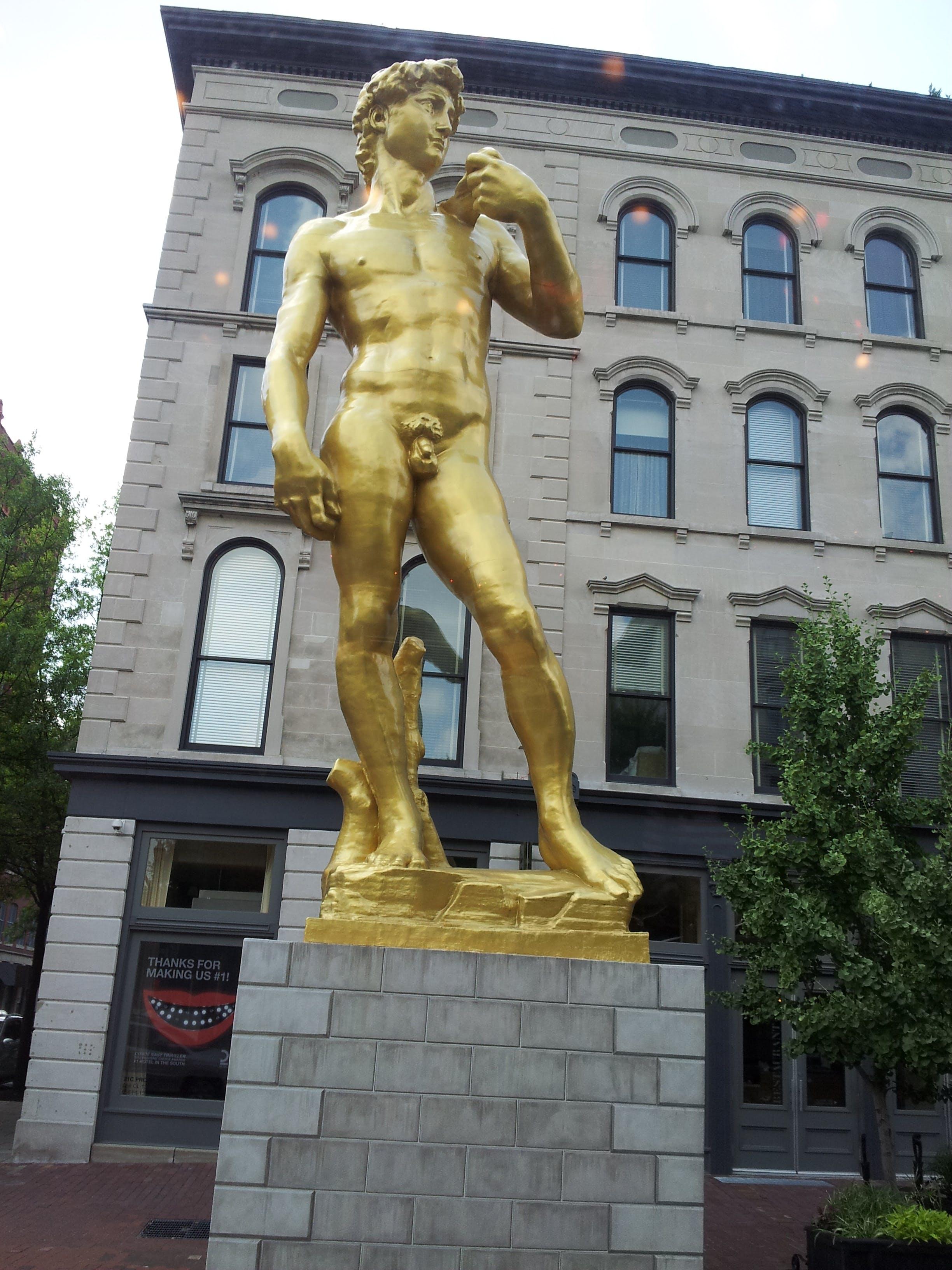 Free stock photo of bronze, david, replica, statue