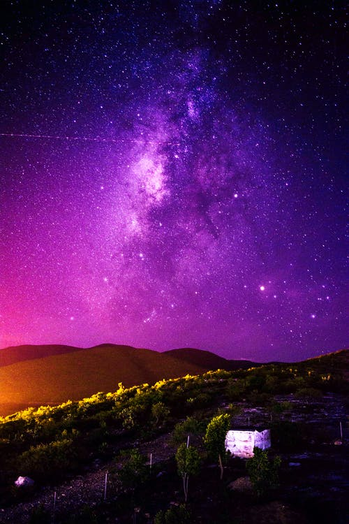Purple Night Sky Photo