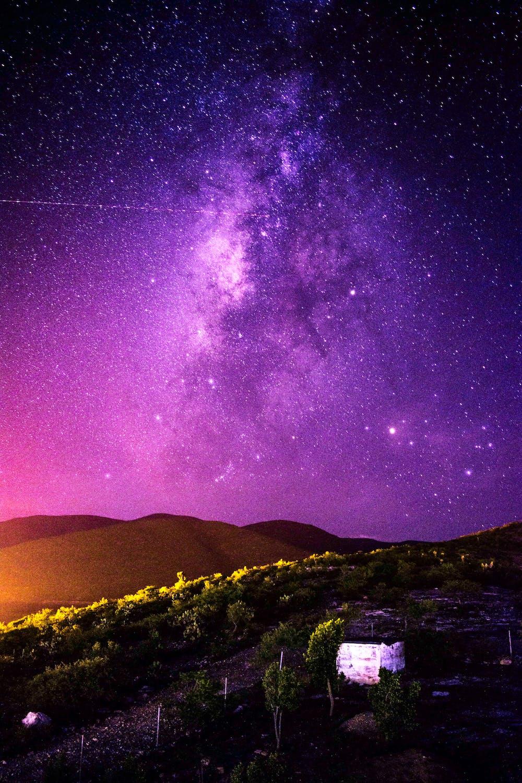 Purple Night Sky Photo