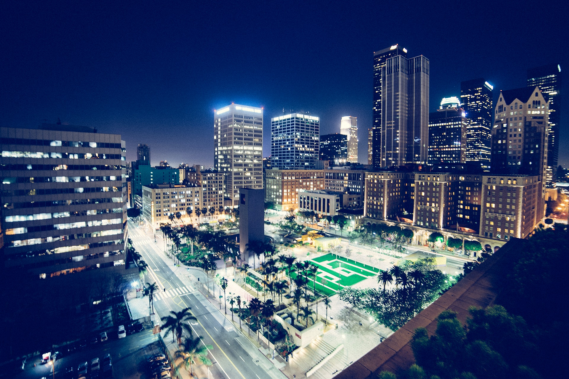 Free City Lights Wallpaper