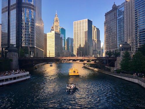 Darmowe zdjęcie z galerii z chicago, łódź, miasto