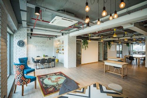 Office Interior Design with Wooden Floor