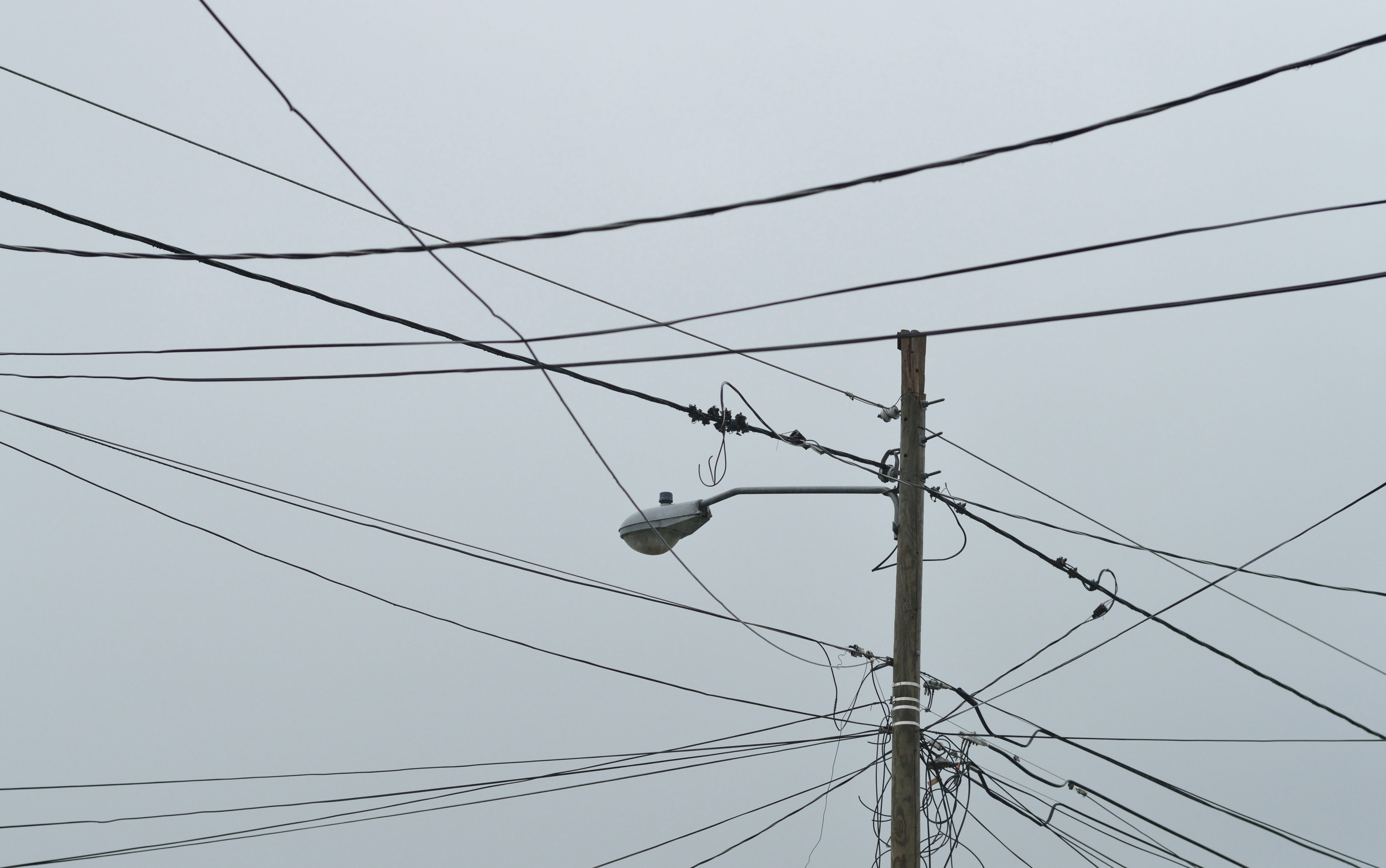 Gray Electric Post With Light