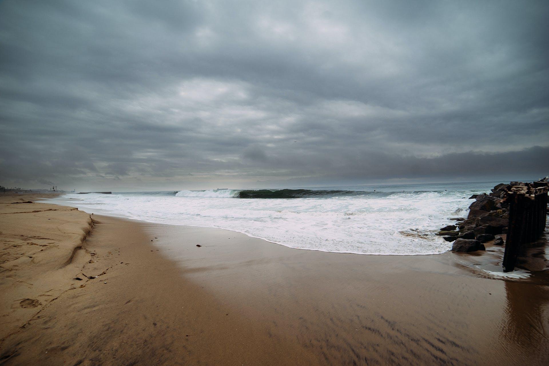 Selective Focus Photography of Seashore