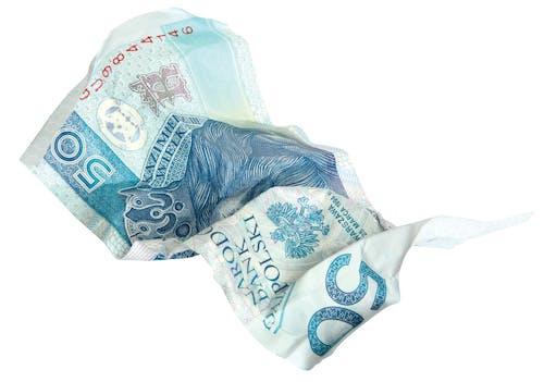 Foto profissional grátis de amarrotado, cédula, cinquenta dólares, dinheiro
