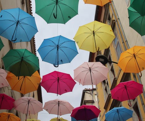 Free stock photo of street, umbrella
