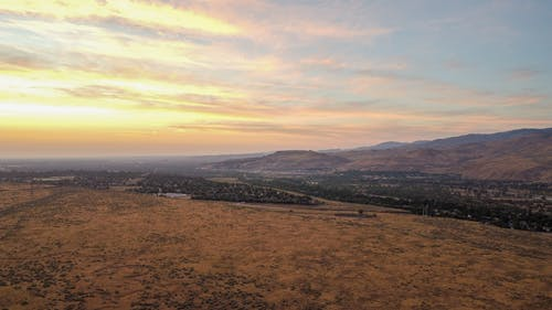 Бесплатное стоковое фото с вид с квадрокоптера, восход, выращивать