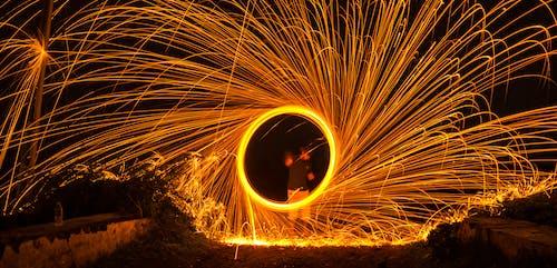 Gratis lagerfoto af brænde, kreativ, lang eksponering, lysspor