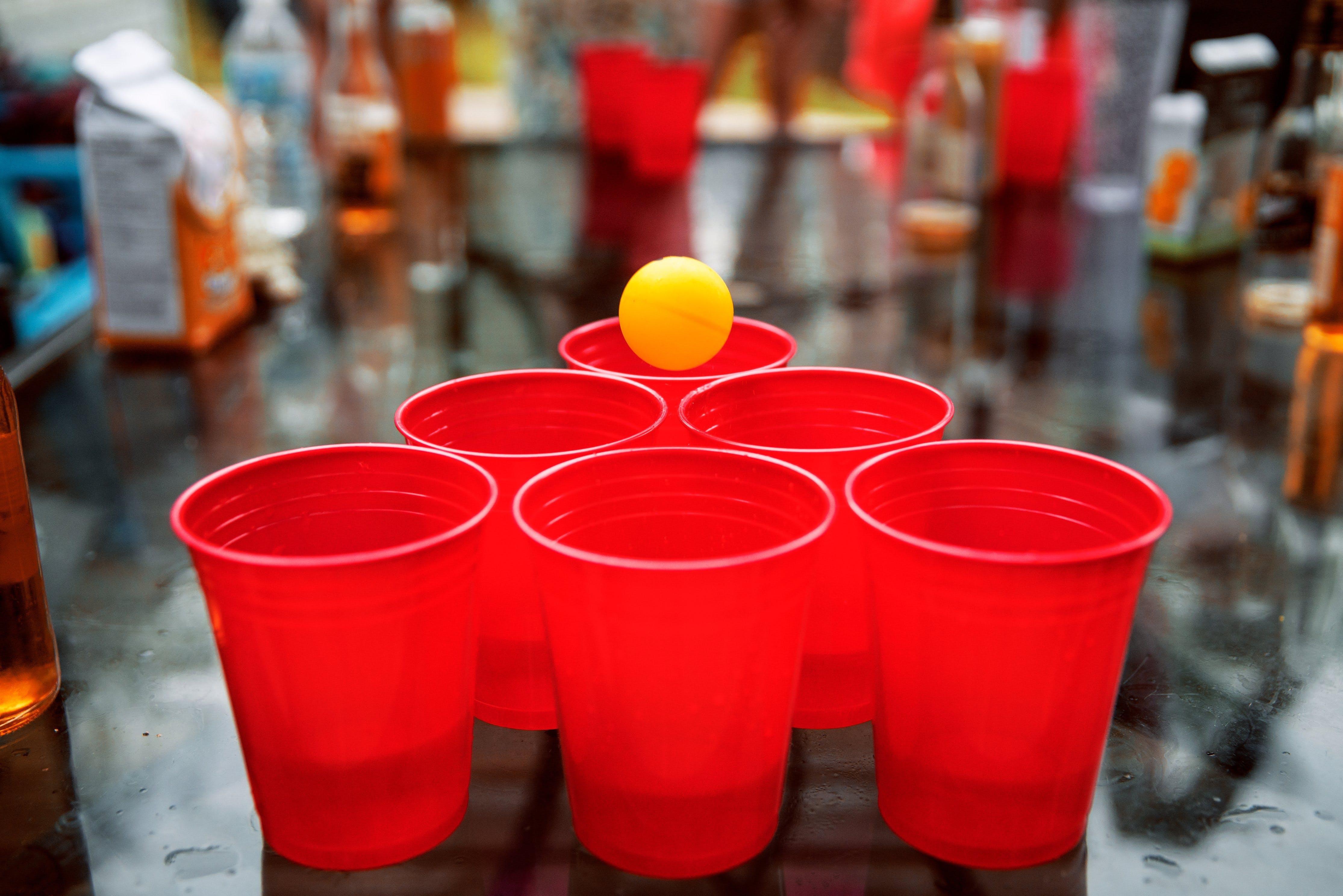 ball, beer, beer pong