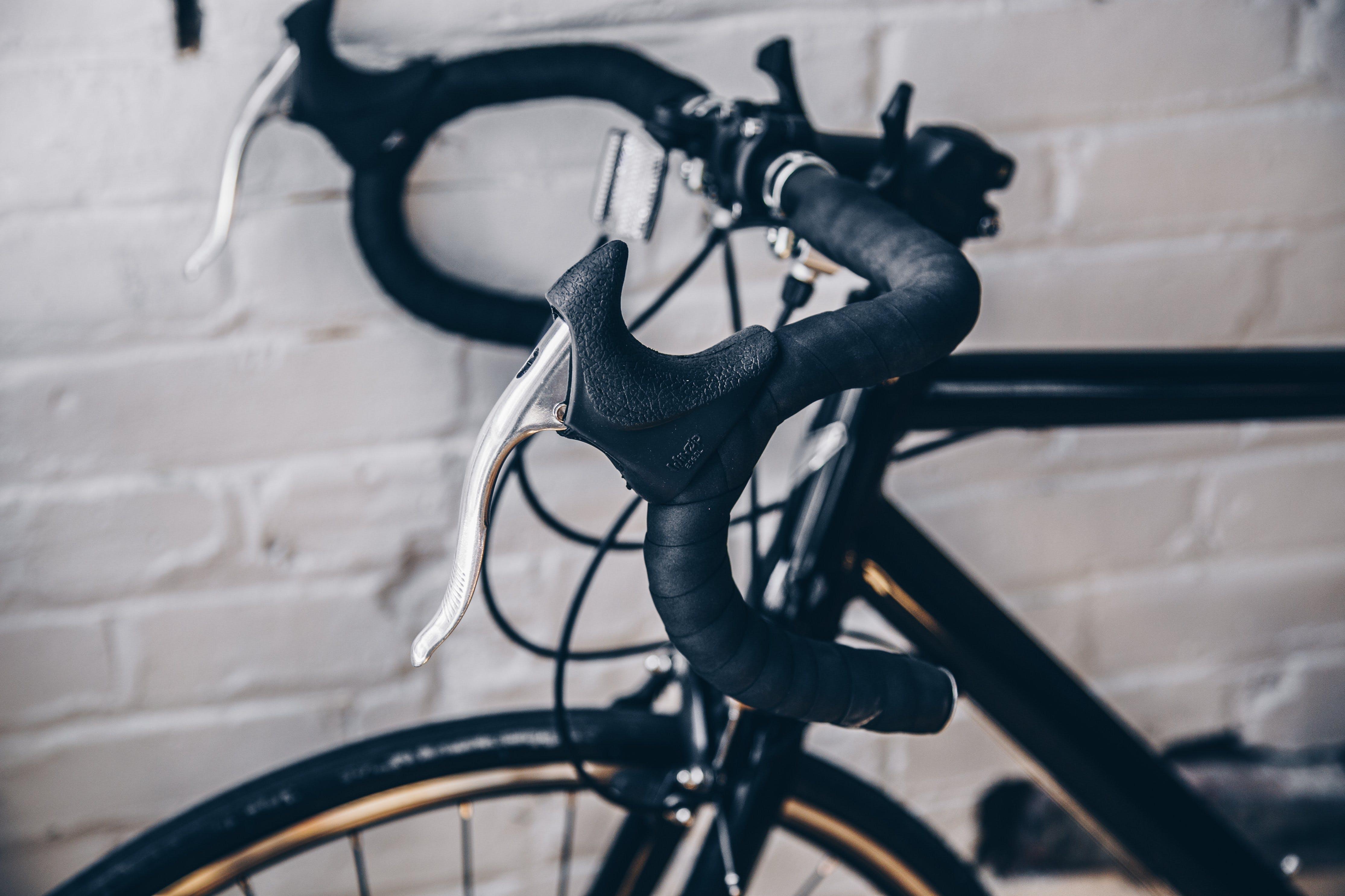 Black Bicycle Handle Bar