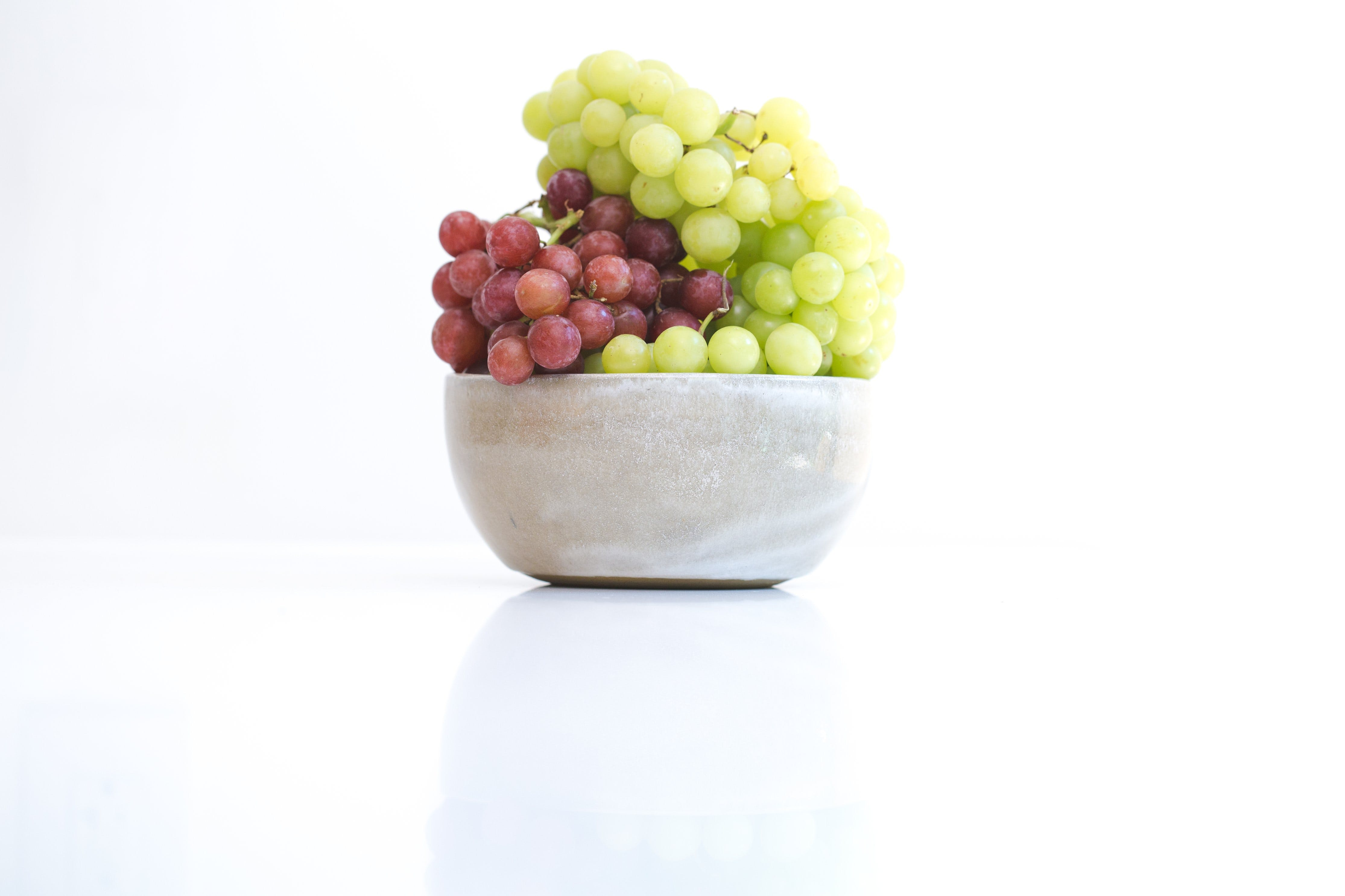 Grapes in Round Gray Bowl