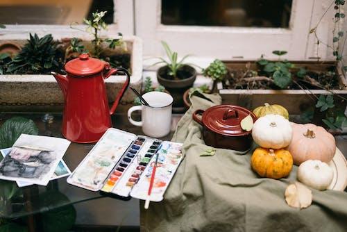 Gratis arkivbilde med blad, blomst, bord, container