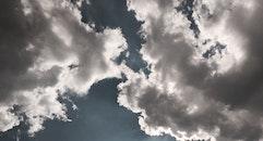sky, sunny, clouds