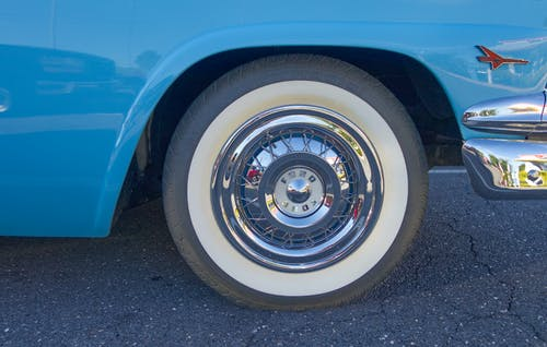 Free stock photo of 1950s, antique car, ford, Light Blue ford antique.