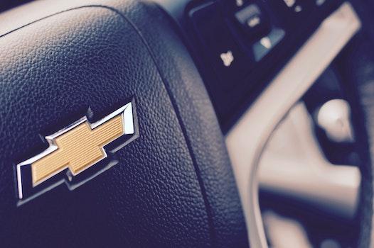 Black Chevrolet Steering Wheel