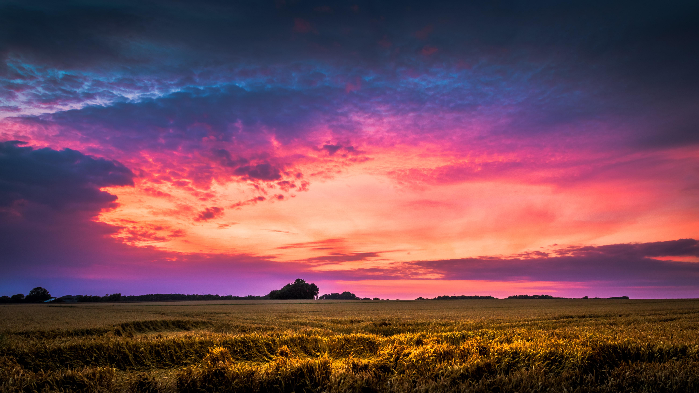 orange blue cloudy sky  u00b7 free stock photo