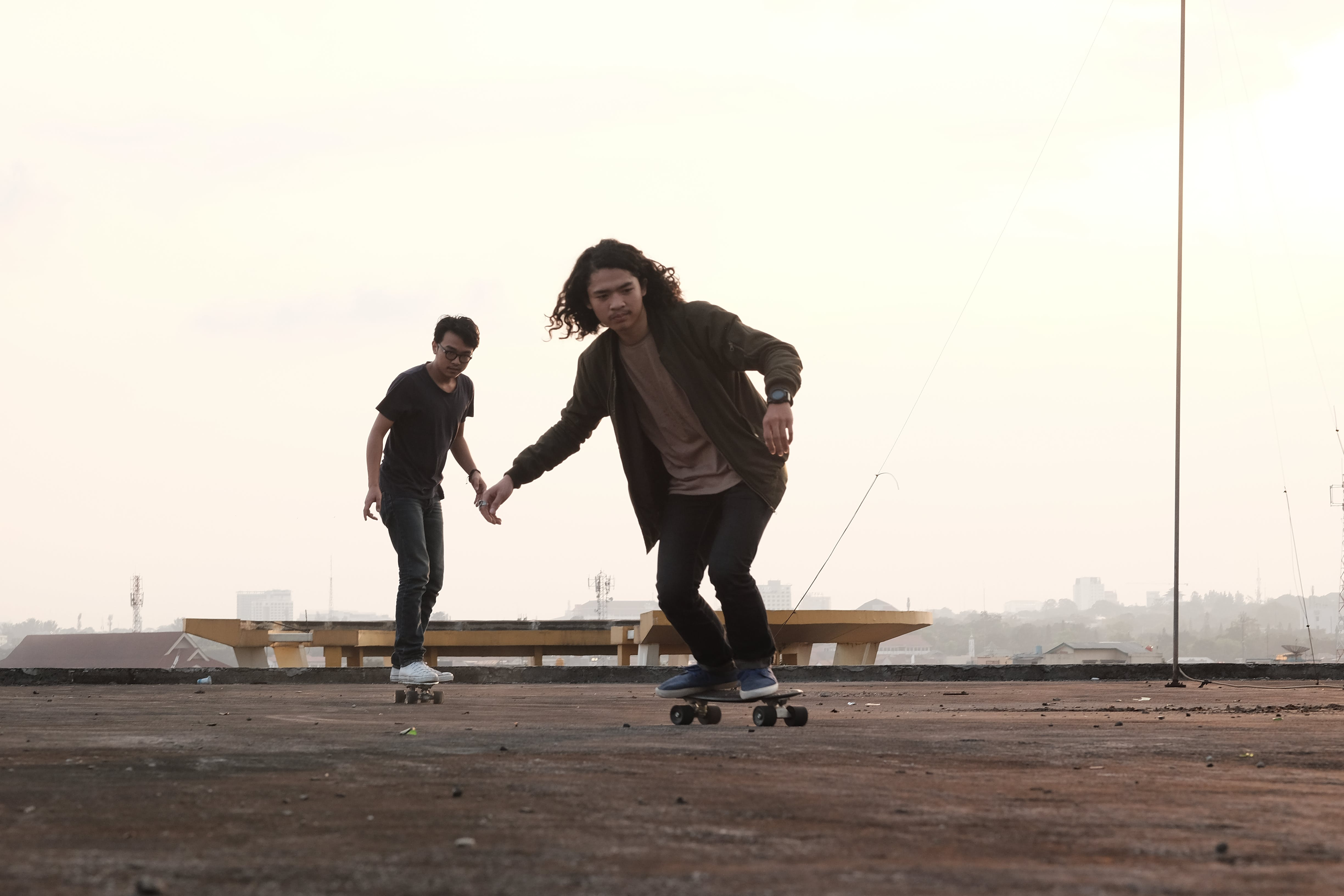 Man Skating on Gray Concrete Surface