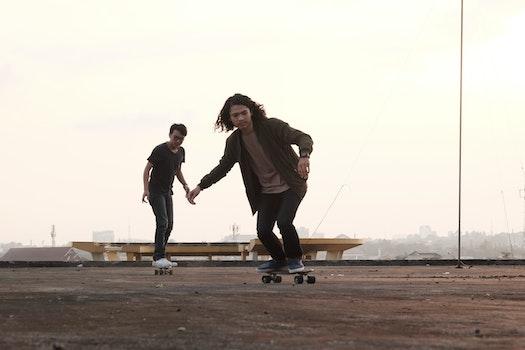 Free stock photo of people, travel, motion, skateboard
