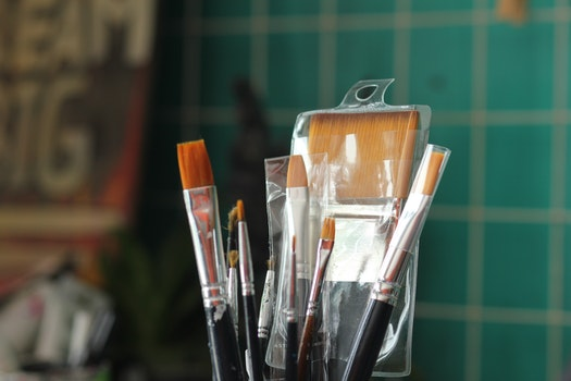 Free stock photo of art, brush, painting, blur